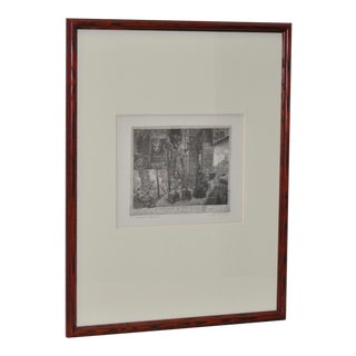 Surreal Etching by Noted German Artist Manfred Sillner B.1937 For Sale