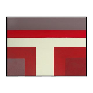 Abstract Ron Burgundy No. 1 - Framed Print 30x40 For Sale