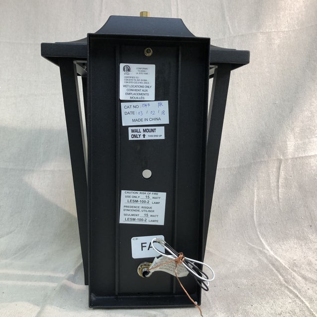 Black Hinkley Lighting Sullivan Outdoor Black Lantern Wall Sconce For Sale - Image 8 of 13