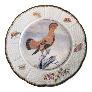 Chinoiserie Birds Flowers & Butterflies Plate For Sale