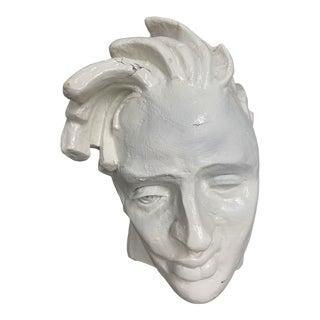 1980s Papier Mache Bust Studio Piece For Sale