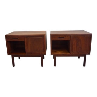 1960s Mid Century Modern Jack Cartwright for Founders Furniture Nightstands - a Pair For Sale
