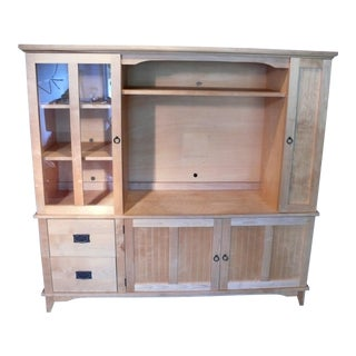 Birch Shaker Style Entertainment Cabinet For Sale