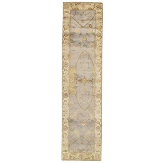 """Traditional Pasargad N Y Original Oushak Design Hand-Knotted Rug - 2'6"""" X 9'11"""""""