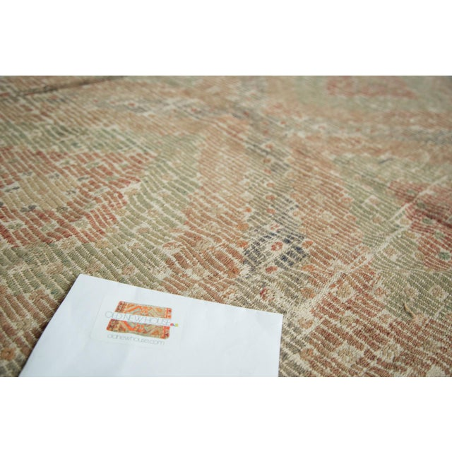 "Tan Vintage Turkish Jijim Carpet - 6'3"" x 9'2"" For Sale - Image 8 of 8"