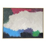 Image of Mid-Century Modern Signed Abstract Painting For Sale