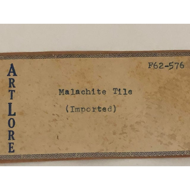 Black Vintage Fornasetti Italian Framed Malachite Tiles - Set of 4 For Sale - Image 8 of 13