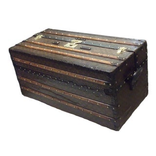 "1906 Louis Vuitton ""Ideal"" Leather Trunk For Sale"