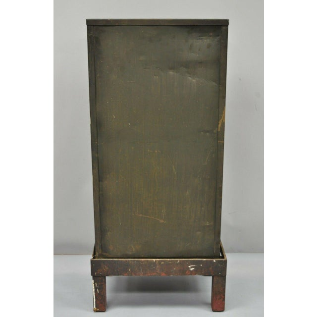 Antique Industrial Cabinet For Sale - Image 9 of 11