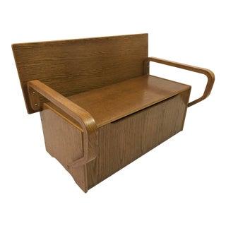 Vintage Child's Convertible Storage Bench & Work Desk