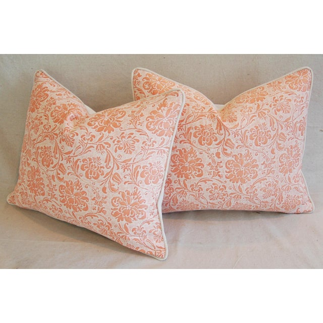 Designer Italian Fortuny Cimarosa Feather/Down Pillows - a Pair For Sale - Image 9 of 10