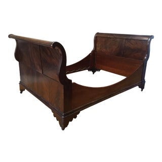 Antique English Flame-Mahogany Daybed For Sale