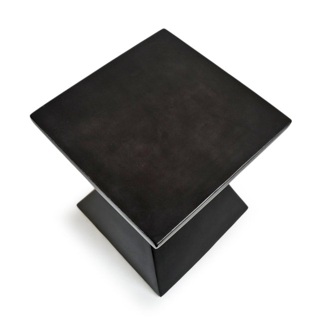 Modern Outdoor Side Table For Sale - Image 4 of 5