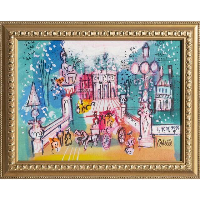 """Charles Cobelle, """"Rue De l'Arc De Triomphe Du Carrousel, Paris"""", Cityscape Painting For Sale"""