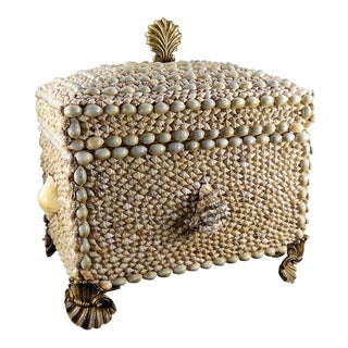 Maitland Smith Shell Encrusted Trinket Box For Sale