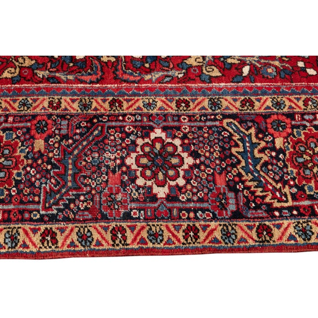 Mid 20th Century Vintage Persian Rug For Sale In New York - Image 6 of 9