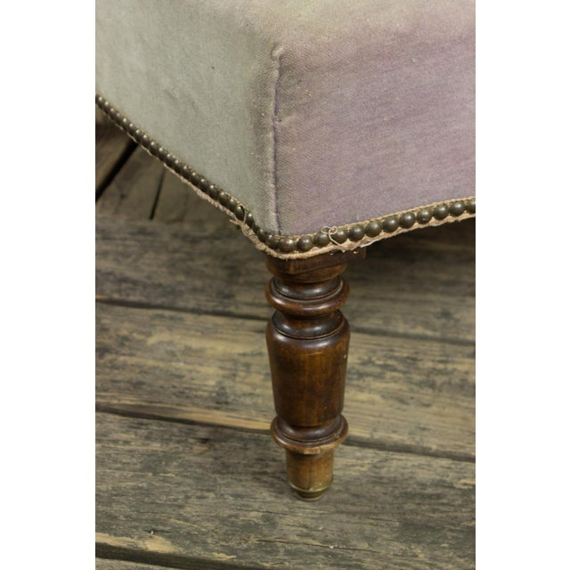 Textile French Faded Lavender Velvet Chaise For Sale - Image 7 of 11
