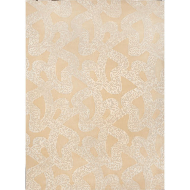 Schumacher Chantilly Lace Area Rug in Hand-Tufted Wool & Spun Silk, Patterson Flynn Martin For Sale