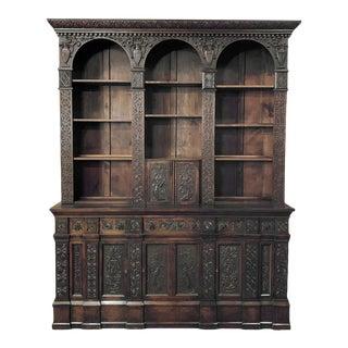 19th Century Renaissance Bookcase For Sale