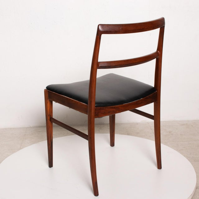 Mid Century Danish Modern Set of 6 Dining Chairs by Arne Vodder for Sibast 430 For Sale In San Diego - Image 6 of 11