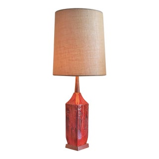 Canadian Studio Pottery Table Lamp - Unsigned For Sale