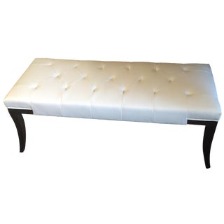 Ivory Leather Bench