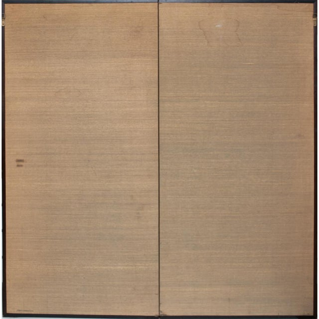 1880's Vintage Japanese Yamato-E Byobu Screen For Sale - Image 11 of 13