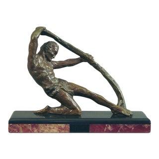 1920s Vintage French Decoux Art Deco Bronze Sculpture For Sale