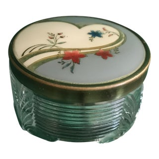 Antique Art Deco Circular Powder Box