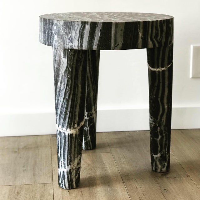 2010s Post Modern Sculptural Marble Accent Table (2 Available) For Sale - Image 5 of 5