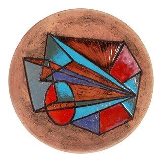 Modernist Marian Zawadsky for Tilgmans Art Pottery Geometric Wall Platter For Sale