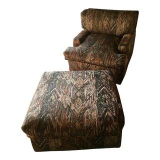 Harvey Prober Lounge Chair & Ottoman - A Pair