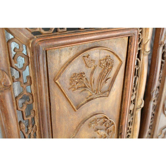 1920s 1920s Asian Carved Wall Panels - Set of 3 For Sale - Image 5 of 8