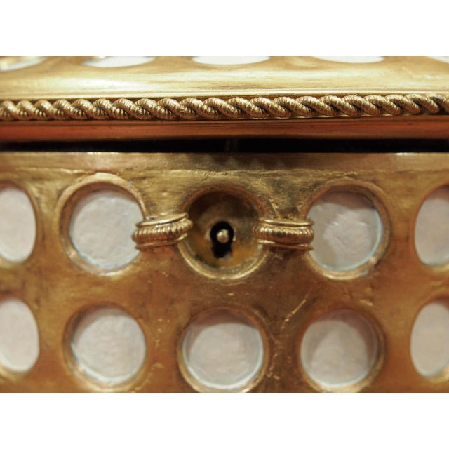 """Charles X Gilt and Mosaic Jewelry Box, Signed """"Tahan, Paris"""" For Sale In New Orleans - Image 6 of 9"""