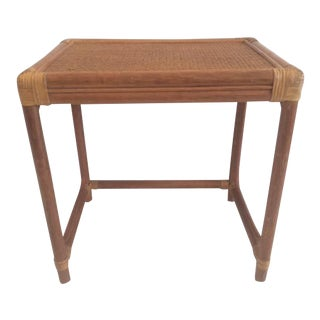 Rattan Small Side Table For Sale
