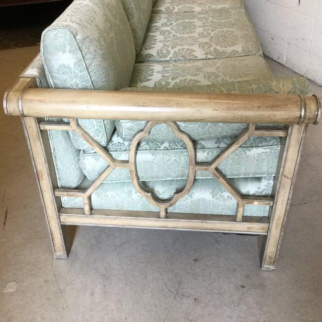 Palm Beach Regency Dorothy Draper Style Fretwork Sofa - Image 6 of 12