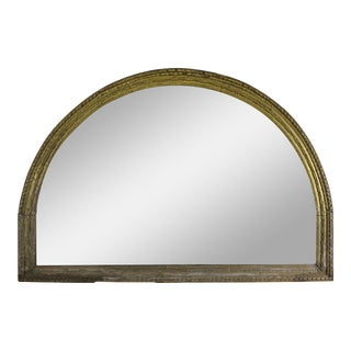 Early 19th Century Italian Giltwood Carved Arched Mirror For Sale
