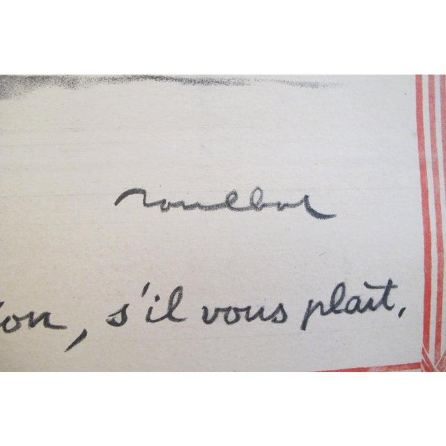 """Art Nouveau 1915 Original French War Poster - """"Journée Du Poilu, Pour Que Papa Vienne en Permission"""" - Poulbot For Sale - Image 3 of 5"""