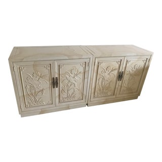 Henredon Asian Style Credenza-A Pair For Sale
