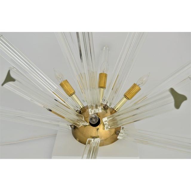 Venini Mid-Century Modern Italian Venetian Glass & Brass Sputnik Table Lamp Millennial - Image 9 of 11