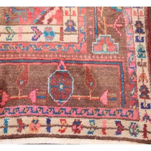 Persian Geometric Nahavand Hamedan Rug - 4′11″ × 8′8″ For Sale - Image 5 of 5