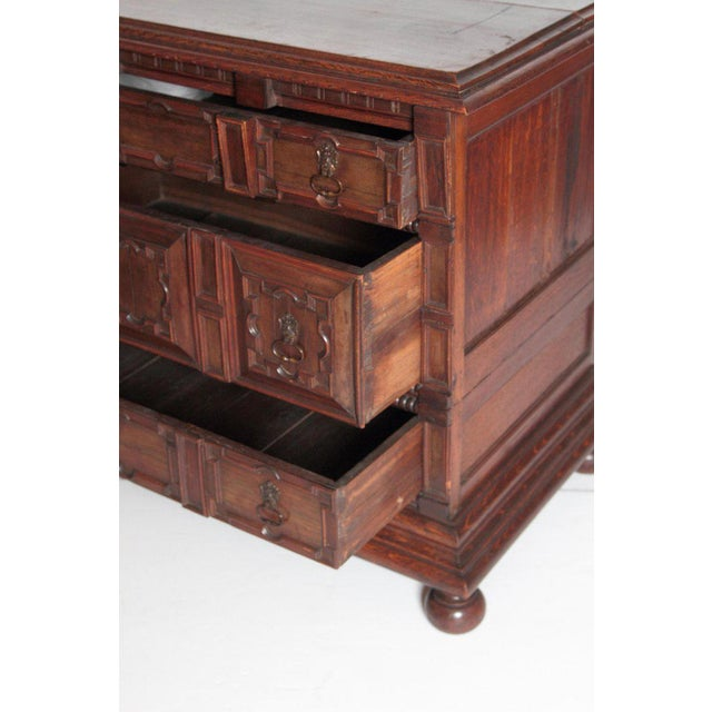 A Late 19th Century Oak Jacobean Style Chest For Sale - Image 10 of 13