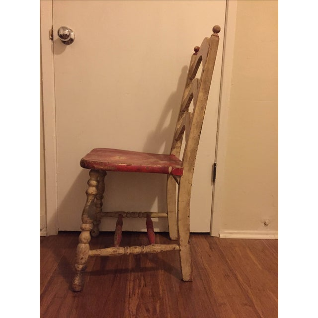 Vintage Shabby Chic Chairs - A Pair - Image 5 of 6