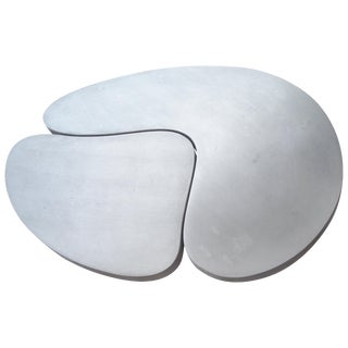 Frederick Kiesler Cast Nesting Aluminum Coffee Tables Biomorphic Cloud - 2 Pieces For Sale