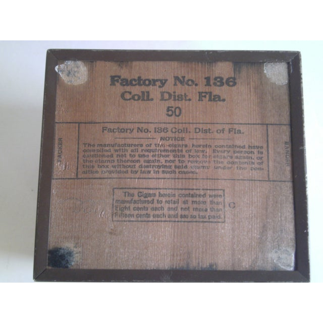 1940s Copper Enameled Metal on Wood Boxes - A Pair - Image 11 of 11