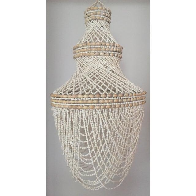 Beaded Shell Chandelier Lantern - Image 2 of 7