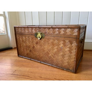 Vintage Rattan and Faux Bamboo Trunk Preview
