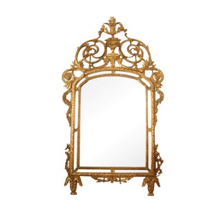 1880's Italian Giltwood Mirror For Sale
