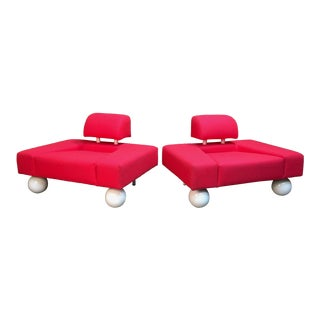 Late 20th Century Post Modern Lounge Chairs- A Pair For Sale