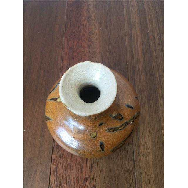 Tree Design Handmade Tan Clay Vase - Image 6 of 7